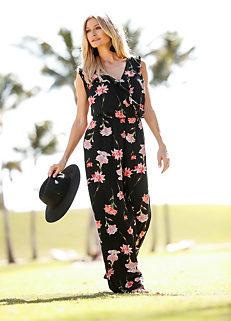 d8fbc325650 Floral Jersey Jumpsuit