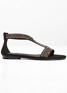 287bedb357fda7 Rhinestone Embellished Sandals