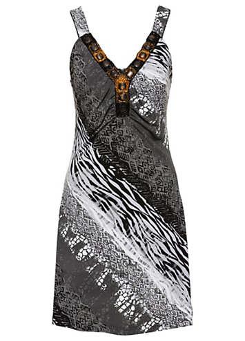 636386b5a Beaded Summer Dress by BODYFLIRT boutique | bonprix