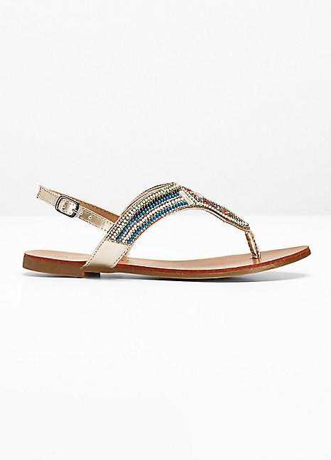 bd6cacbf6ba6e6 Beaded Sandals by BODYFLIRT