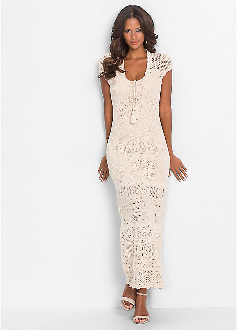 Crochet Maxi Dress By Bodyflirt Boutique Bonprix