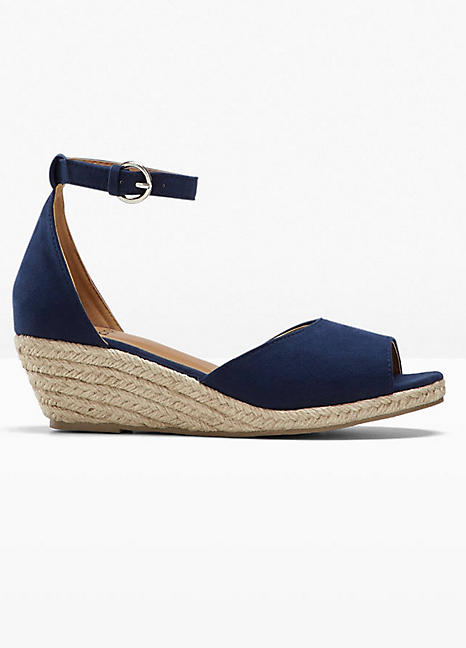 Faux Suede Espadrille Wedges by bpc